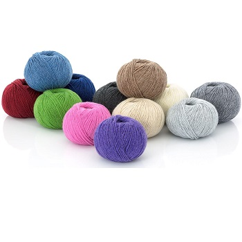 Ovillo 100% lana cachemir Premium punto y ganchillo