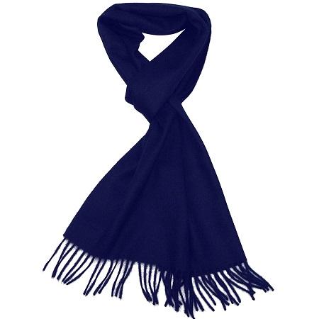 bufanda para hombre azul marino 100 % cachemire