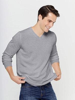 jersey cashmere de hombre color gris